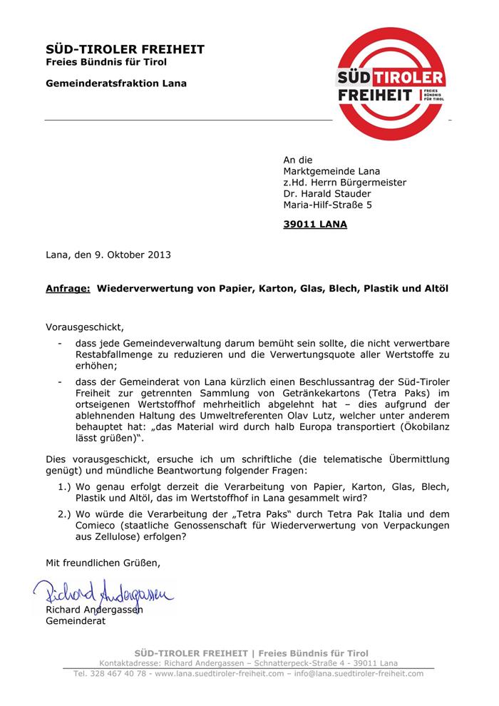 2013-10-09-Anfrage-Wertstoffhof