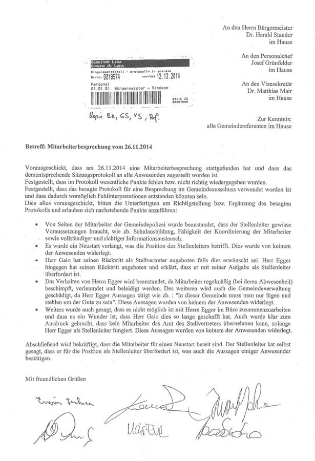 2014-11-26-Brief-Gemeindepolizei-Lana