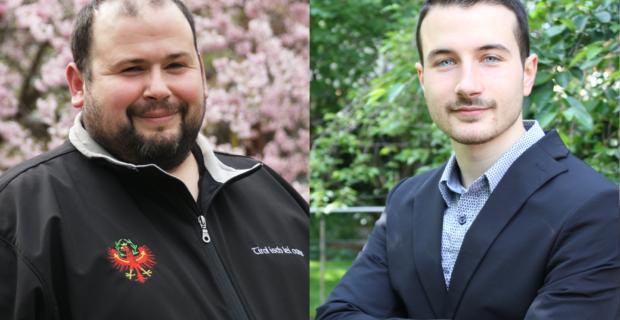 Peter Gruber und Philipp Holzner, Gemeinderäte der Süd-Tiroler Freiheit Lana